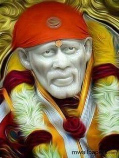 These Shirdi Sai Baba quotes will motivate you in life. One of his well-known proverb, Sabka Malik Ek, Sai Baba quotes Look to me, and I shall look to you. Wallpaper Pictures, Photo Wallpaper, Mobile Wallpaper, Screen Wallpaper, Wallpaper Backgrounds, True Love Images, Sai Baba Hd Wallpaper, Ganesh Wallpaper, Shirdi Sai Baba Wallpapers