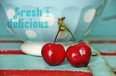 cherries and turquoise