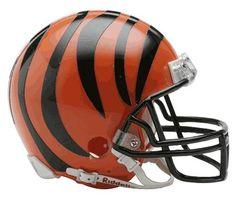 NFL Cincinnati Bengals Replica Mini Football Helmet by Riddell. $21.99. Riddell Cincinnati Bengals NFL Replica Mini Helmet w/Z2B Mask