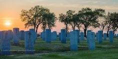 https://flic.kr/p/sDbp48 | Memorial Day Sunset on Field of Honor | Brookside Cemetary, Winnipeg, Manitoba, Canada. HDR composite of 7 images (+/- 3 ev). Nikon 50mm f1.4d
