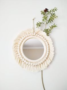Excited to share the latest addition to my shop: Beige Macrame Bohemian Mirror / Boho Wall Hanging Mirror / Handcrafted Wall Hanging Mirror / Macrame wall hanging tapestry Diy Macrame Wall Hanging, Macrame Mirror, Tapestry Wall Hanging, Wall Hangings, Macrame Curtain, Mirror Crafts, Diy Mirror, Sunburst Mirror, Wall Mirrors