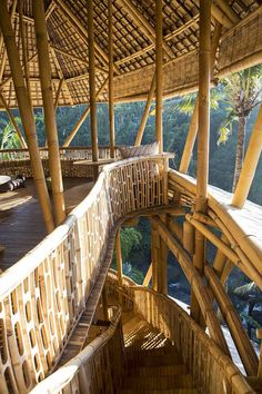 Green Village by Ibuku Bamboo Architecture, Tropical Architecture, Sustainable Architecture, Architecture Details, Bamboo Building, Natural Building, Bamboo House Design, Bali House, Bamboo Structure