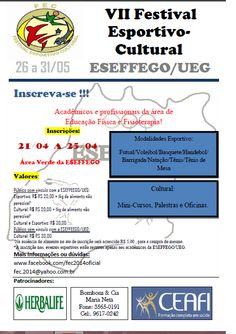 Blog do Sérgio: VII Festival Esportivo-Cultural - Eseffego/UEG