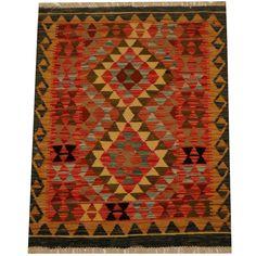 Herat Oriental Afghan Hand-woven Vegetable Dye Kilim