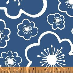 Lotta Jansdotter - BELLA Coastal Flower in Cornflower Blue