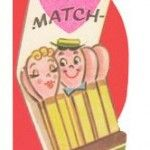 """Another """"Perfect Match"""" Vintage Valentines Day Card"""