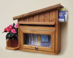 Mailbox Handmade Wooden Mailbox Letter box by WoodworkingByMax