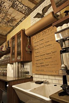 Kraft paper menu: change it daily. Cool cafe idea!,  Go To www.likegossip.com to get more Gossip News!