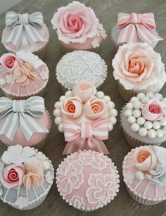 These gorgeous Vintage cupcakes by Cotton & Crumbs would be a fabulous finish to a Vintage Wedding. We have many gorgeous vintage pieces of jewelry online to purchase.      http://stores.ebay.com/Mills-Jewelers-Camarillo