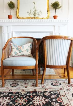I was browsing craigslist one afternoon when I saw a listing for a pair of vintage cane chairs on sale at the local (okay, not local, I is part of Cane chair makeover - Chair Makeover, Furniture Makeover, Home Furniture, Plywood Furniture, Modern Furniture, Furniture Design, Furniture Buyers, Furniture Dolly, Furniture Refinishing