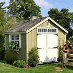 Little Cottage 8 x 10 ft. Williamsburg Colonial Panelized Garden Shed - Storage Sheds at Hayneedle