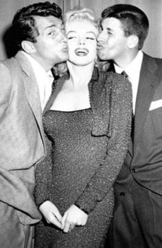 Marilyn Monroe, with Dean Martin, and Jerry Lewis.