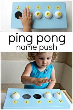 Help toddlers and preschoolers practice name recognition with this fun and engaging activity kids will play over and over again!