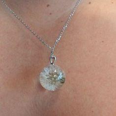 Dandelion necklace Real Dandelion jewelry Make a wish Resin Necklace, Resin Jewelry, Pendant Necklace, Crystal Resin, Clear Resin, Unique Necklaces, Unique Jewelry, Dandelion Necklace, Dandelion Wish