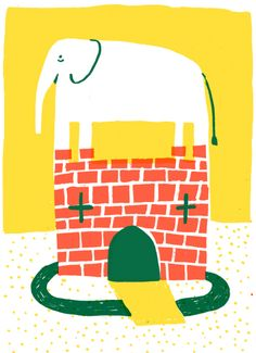 Elephant and Castle by Illustrator Thomas Slater.