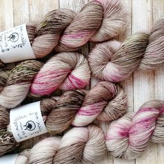 YAY SINGLES Antique Rose by Artistic Lilly - Hand Dyed Yarn hand painted yarn (affiliate link)