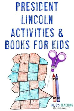 This blog post is full of great ideas to celebrate the life of former President Abraham Lincoln. You get math activities, an editable puzzle, a FREE download, picture book ideas, chapter book recommendations, a bulletin board suggestion, and more inspiration you can use in February to celebrate Presidents Day or to use at any time of year in your social studies lessons or unit. First Grade Activities, Social Studies Activities, Teaching Social Studies, Book Activities, Teaching Tips, 5th Grade Classroom, Middle School Classroom, Classroom Ideas, Abraham Lincoln Books