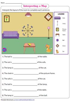 Interpreting a Room Plan Map Worksheets, Social Studies Worksheets, School Worksheets, Kindergarten Social Studies, Teaching Social Studies, Teaching Math, Classroom Map, Classroom Ideas, Homeschool Supplies