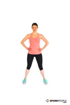 Basic Step-Touch (Lateral) Exercise Demonstration via Ideal Weight Loss, Weight Loss Plans, Healthy Weight Loss, Weight Loss Tips, Best Cardio Workout, Gym Workouts, Spark People, Health Pictures, Medical Facts