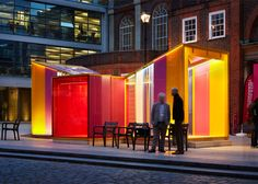 Pavilion designed to resemble a Venetian glass sweet.