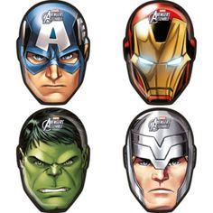 ¡Mira qué estupenda y potente idea para decorar la mesa en las fiestas de tus superhéroes! ¡Así es imposible no sentirse parte del mundo de Marvel! Estos divertidos platos tienen las caras de Hulk, Thor, Capitán América y Iron Man.