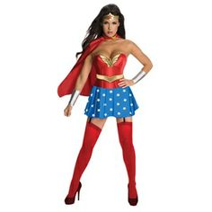 Supreme Adult Wonder Woman Costume with Corset
