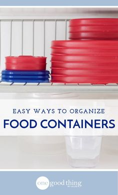 Food storage containers are great for leftovers, but they can create chaos in your drawers and cupboards! Check out these 5 easy ways to get organized.