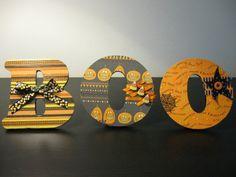 Halloween Wooden Letters $24
