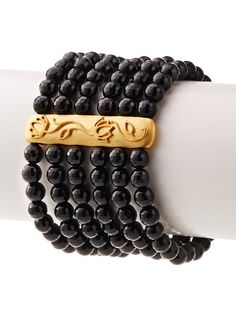 Satya Black Onyx Lotus Bar Six-Strand Stretch Bracelet, http://www.myhabit.com/redirect/ref=qd_sw_dp_pi_li?url=http%3A%2F%2Fwww.myhabit.com%2Fdp%2FB00L709YVI%3Frefcust%3DZVXONCGV7KKXK3EVYJWSWSJ5IY