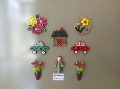 Paper Quilling Fridge Magnets www.facebook.com/HobbyQuills