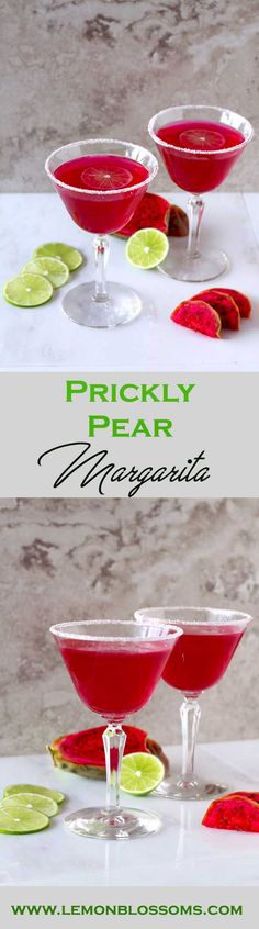 Prickly Pear Margarita ~ The Hot Pink Drink That Packs a Punch! Easy to make, beautiful and delicious!