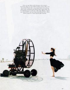 US Harper's Bazaar March 1993 Back to Reality Photographer: Patrick Demarchelier Models: Nadja Auermann & Cecilia Chancellor Hair: Kevin Mancuso Makeup: Moyra Mulholland