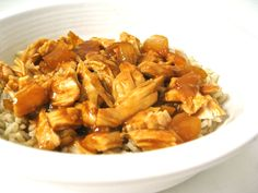 Skinny orange shredded chicken
