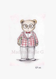 NEW The Literary Teddy by MademoiselleG on Etsy