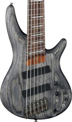 Ibanez SRFF806BKS Workshop Series 6-String Bass Guitar