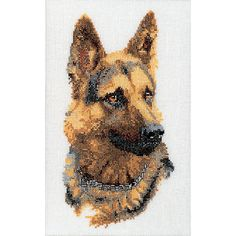 Thea Gouverneur counted-cross-stitch Kit Shepherd's Dog On Aida Embroidery Kits, Cross Stitch Embroidery, Cross Stitch Designs, Cross Stitch Patterns, Cross Stitch Needles, Dmc, Dog Illustration, Counted Cross Stitch Kits, Online Craft Store