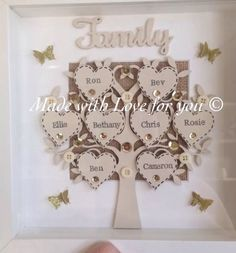 Personalised Family Tree Frame. Perfect Mother's Day Gift.Can Fit Upto 9 Hearts in Home, Furniture & DIY, Celebrations & Occasions, Other Celebrations & Occasions | eBay!
