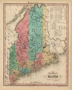 Best Maine Antique Maps Images On Pinterest Antique Maps Maine - Antique map of maine