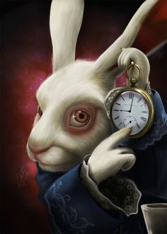 White rabbit by LuzTapia.deviantart.com