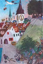 Sagen Stadt Zürich Painting, City, Painting Art, Paintings, Painted Canvas, Drawings