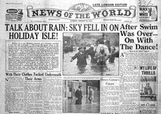 News Of The World front page from its peak of 1954.