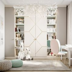 35 Amazingly Pretty Shabby Chic Bedroom Design and Decor Ideas - The Trending House Kids Bedroom Designs, Kids Room Design, Modern Kids Bedroom, White Bedroom Furniture, Bedroom Decor, Teenage Room, Plywood Furniture, Design Furniture, Diy Furniture