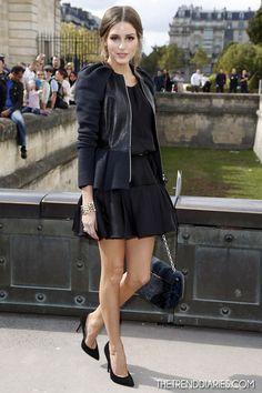 Dress: Christian Dior Jacket: Christian Dior Leather Peplum Jacket Bag: Christian Dior Shoes: Giuseppe Zanotti Basic Point Toe Pumps