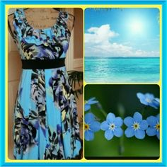 Spotted while shopping on Poshmark: ♥HOST PICK♥Take a walk in my blue floral dress! #poshmark #fashion #shopping #style #Candies #Dresses & Skirts