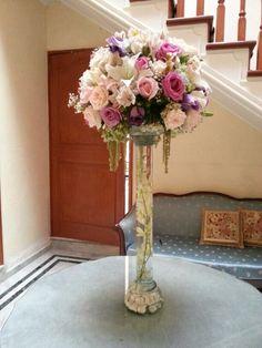 Bouquets con orquídea centro de mesa alto