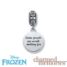 Back of the Olaf charm. I need this in my life, like now!!
