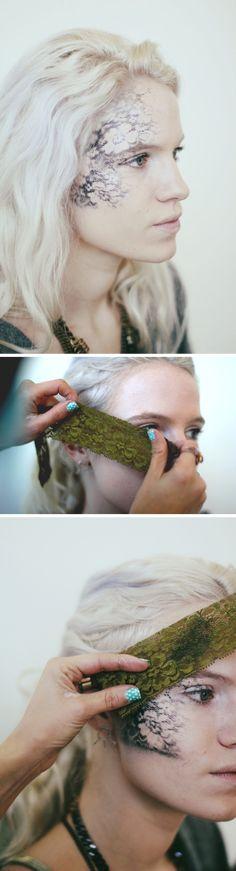 Lace Mask Halloween Makeup Tutorial