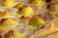 Spruiten Quiche met walnoten Hawaiian Pizza, Pepperoni, Quiches, Ricotta, Healthy Recipes, Healthy Food, Food And Drink, Snacks, Kitchens