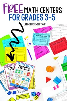 Free Math Centers for 3rd-5th