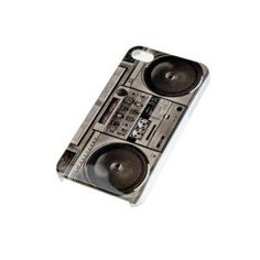 Old Classic Radio Recorder Video Tapes Cover Case For iPhone 4